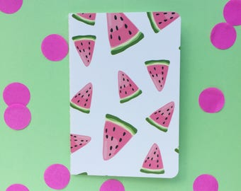 A6 watermelon lined notebook