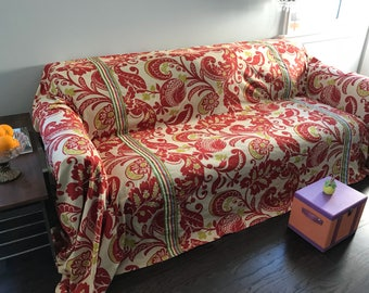 Groovy 1970's Retro Print SofaScarf / Only 1 Available