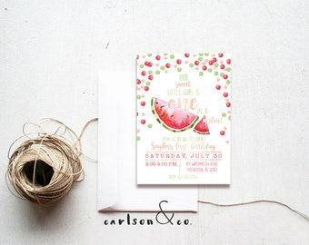 Watermelon Invitation | Summer Time | Birthday Invitation | Digital Printable