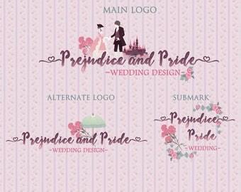 Prejudice Pride Princess Prince| Photograph Premade Logo Watermark Design | Blog Header | Marketing Kit | Wedding Garment Bouquet Ornament