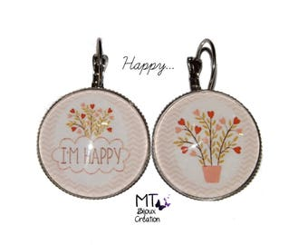 "Mismatched earrings theme ""Happy"""
