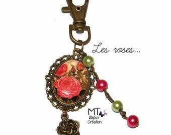 "Bronze keychain ""roses"""