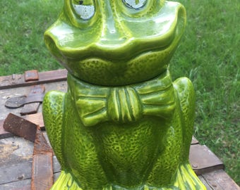 Vintage Frog Cookie Jar, Farm Animals, Critters