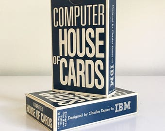 Vintage Computer House of Cards designed by Charles Eames for IBM