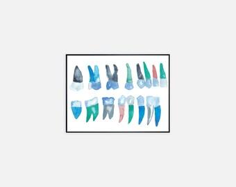 Dental Art - Dental Hygienist Gift - Dentist Gift - Dentist Art - Tooth Art - Dental Gifts - Gift for Dentist - Dental Assistant Gift
