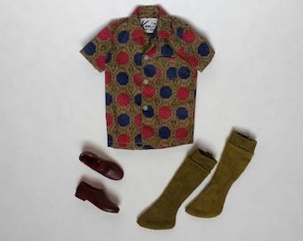 "Vintage Ken Doll Clothes, 1960s Ken ""Sport Shorts"" (#783) Mattel"