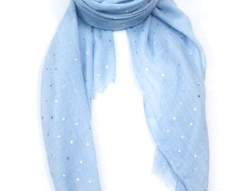 Personalised Scarf, star scarf, star shawl, star pattern, summer scarf,  personalised gift