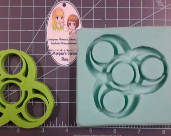 Funky Fidget Spinner Silicone mold, Resin Mold, fidget Mold, polymer clay mold, spinner mold, toy mold, gamer mold, nerd mold, nerdy mold
