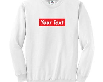 Custom Supreme Style Box Logo Sweatshirt Long Sleeve Shirt Shirts H-RS01