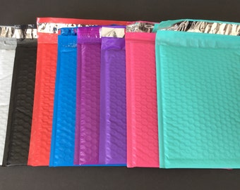 30 YOU ChOOSE 6x9 Bubble Mailers Black Pink Pastel Purple Blue Teal White Red Size 0 Self Sealing Shipping Envelopes Valentine Spring Easter