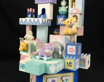Enesco Baby Toyland Action Musical Brahms Lullaby Wind Up Décor  1988 Item 562270