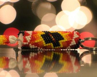 Native American Beaded Keychain