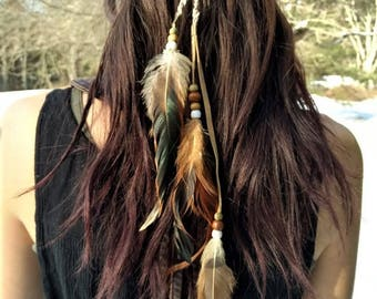 Boho Native American Feather Headband