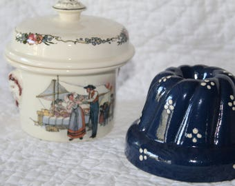 Lot of Alsace pottery.