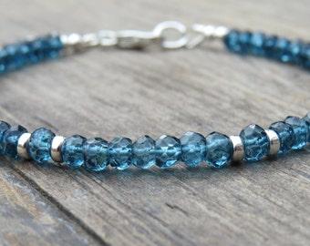 London Blue Topaz & Silver Bracelet