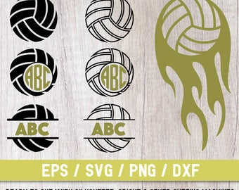 Volleyball svg, Volleyball  svg file, Volleyball  cut file, Volleyball cricut, Volleyball  Monogram svg,Volleyball ball svg