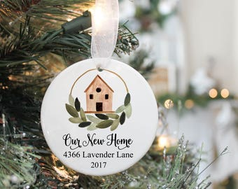 Our First Christmas In Our New Home Ornament- Housewarming Gift-  New Home Ornament- New Home Gift- First Home Gift