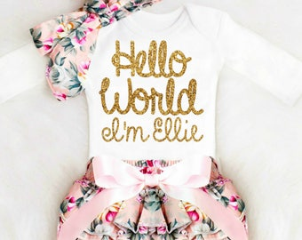 Take home outfit etsy newborn girl take home outfit personalized baby girl going home outfit newborn baby girl clothes personalized negle Image collections