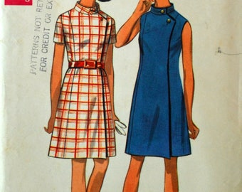 Uncut 1960s Butterick Vintage Sewing Pattern 5172, Size 16; Misses' One Piece Dress
