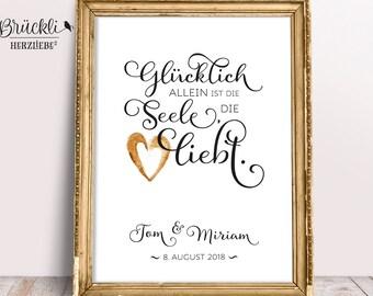 A4 print / mural / poster / wedding gift wedding
