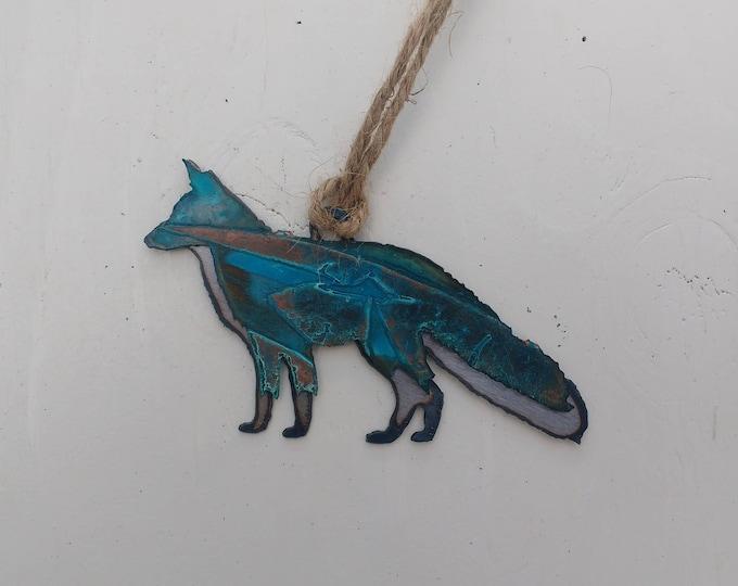 Patina Fox Ornament