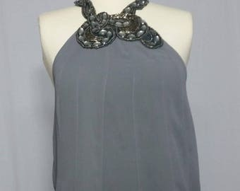 Blouse Neck top with imitation stones