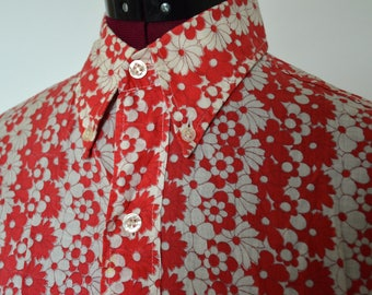 Original 1960s psychedelic flower shirt for men
