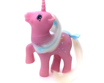 G1 My Little Pony Milky Way Original G1 1986 Vintage MLP Twice As Fancy TAF Unicorn Ponies Pink Stars Glitter Milkyway EUC 80s Hasbro Nice