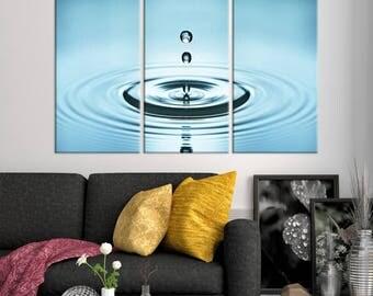 Large WAll Art Water Drop Canvas Print