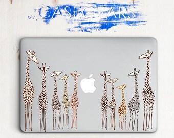 Giraffes MacBook Air 13 Cover macbook Air 11 Hard Cover MacBook 12 MacBook Pro 13 Inch Pro Retina 13 Pro Retina 15 Flower Animal CGMC0011