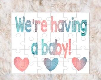 Pregnancy Announcement Puzzle, Pregnancy Announcement, Pregnancy Reveal to Grandparents, Pregnancy Reveal Puzzle