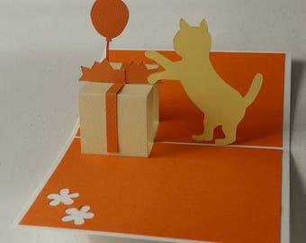 Gift Kirigami pop-up card