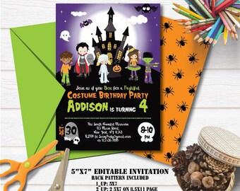Halloween invite | Etsy