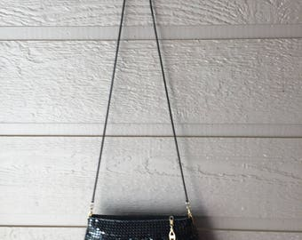 Evening Bag Black Clutch Rope Chain Shoulder Strap