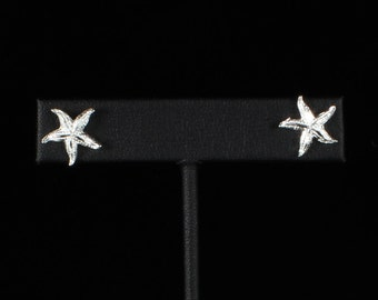 Starfish Stopper Stud Earrings in .925 Sterling Silver