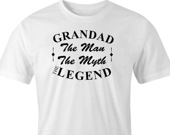 Grandad the man the myth the legend print T-Shirt, Grandad print T-Shirt, Grandad legend T-Shirt, Grandad the legend T-Shirt print.