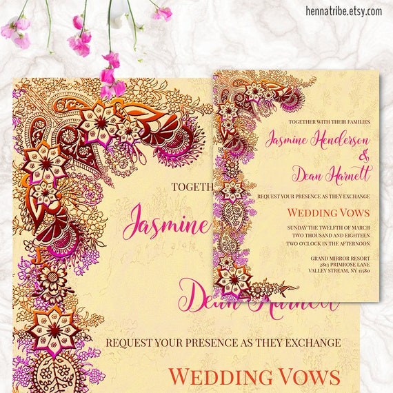 Indian wedding invitation printable wedding cards wedding for Free printable hindu wedding invitations