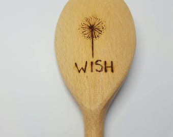 Make a 'Wish' Dandelion wooden spoon