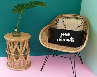 """Fresh coconuts"" linen cushion"