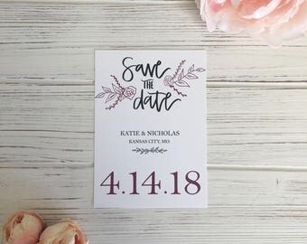 Customizable Digital Download Save The Date, Save the Date Card, Wedding Invitation, Save the Date Printable Template, Photo Save the Date