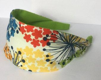 Womens Headband, Wide Headband, Headbands For Women, Poppy Headband, Flower Headband, Adult Headband, Girls Headband, Custom Hairband