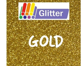 Siser Glitter Heat Transfer Vinyl - Iron On - HTV - Gold