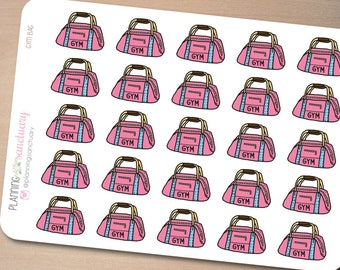 Gym Bag | Fitness Planner Stickers Perfect for Erin Condren, Kikki K, Filofax and all other Planners