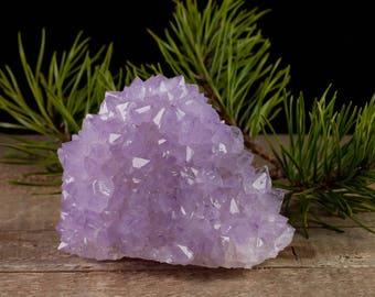 8.7cm SPIRIT QUARTZ Crystal Cluster - Purple Amethyst Quartz Cluster, Healing Crystal, Druzy Amethyst Crystal, Spirit Quartz Cluster 36809