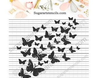 Butterflies cookie Stencil NB900629