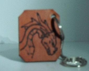 naurel engraved leather keychain