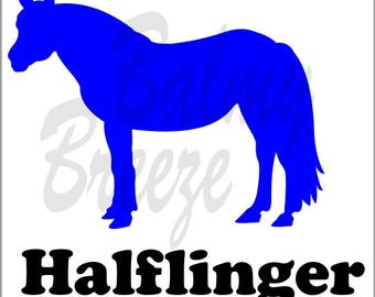 HN - 8 Halflinger Vinyl Decal