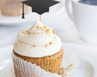 Grad cap cupcake topper, graduation party decorations, graduation cupcake toppers, grad 2018, graduation party, grad decorations