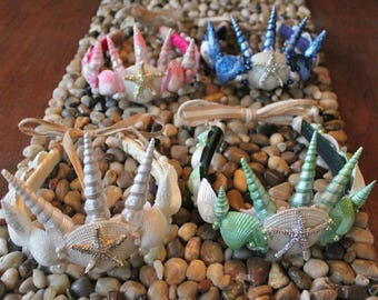 Mermaid Crown/Tiara with  Matching Shell Necklace