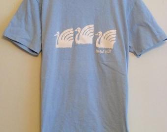 90's Three Swan 'Watch Hill' Light Blue T-Shirt